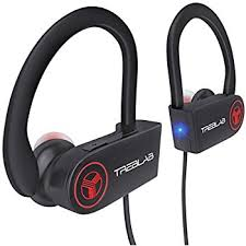 TREBLAB XR100 Bluetooth Sport Headphones Best Wireless Earbuds for Running Workout Noise Cancelling Sweatproof Cordless Headset for Gym Use