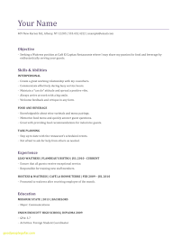 Current Resume Trends Elegant Awesome Skills For Waitress Baskanai Examples Of
