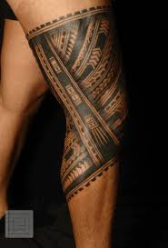Color Leg Tattoo Tribal Ankle Band Maori