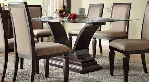 Elegant Dining Room Decoration Using Glass Table Base Outstanding Design Ideas With