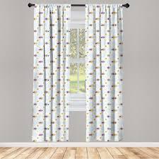 gardine fensterbehandlungen 2 panel set für wohnzimmer schlafzimmer dekor abakuhaus karikatur fisch mit spots kaufen otto