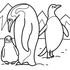 Family Penguin Coloring Pages