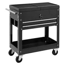 Rolling Mechanics Tool Cart Slide Top Utility Storage Cabinet ...