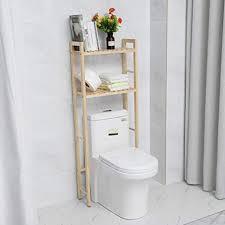 lyrlody toilettenregal 2 tier waschmaschinenregal badregal waschmaschinenschrank holzregal badezimmer regal holz wc regal multifunktional lagerregal