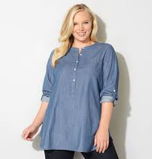 avenue plus size denim popover tunic tunics and shopping