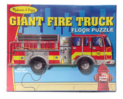 100 Melissa And Doug Fire Truck Puzzle NEW 24 Pc Kids Jumbo Jigsaw Floor Giant