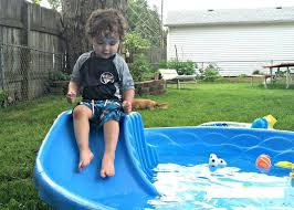 Hard Plastic Kiddie Pools Image Of Best Kids Swimming Pool With Slide