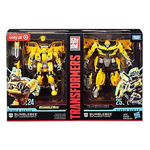 Hasbro Transformers Studio Series 24 and 25 Deluxe Class Bumblebee Action Figure - 2pk