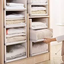 mdurian stapelbare regal kleiderschrank organizer schubladenbox teiler kleideraufbewahrungskorbhalter schrank organizer für kleidung küchen