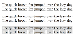 Text Decoration Underline More Space by Spacing Underline Just Words Not The Space Between Them Tex