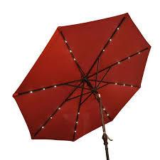Walmart Patio Tilt Umbrellas by Outsunny 9 U0027 Outdoor Patio Umbrella W Tilt U0026 Solar Powered Led