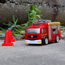 Mini Fire Engine Fire Truck Toy Remote Control Fire-extinguishing ...