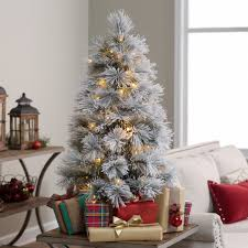 6ft Alaskan Flocked Christmas Tree by Collection Christmas Decorating Ideas Without A Tree Pictures