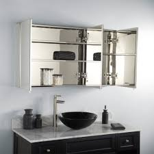 Brushed Nickel Medicine Cabinet With Mirror by Bathroom Cabinets White Mirrored Bathroom Cabinet Bathroom Wall