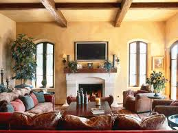 Living Room Tuscan Home Interiors Chesterfield Sofa Human Painting Focal Point Framed Wall Hexagonal Pattern