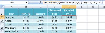 Ceiling Function Excel 2007 by Excel Ceiling And Floor Functions U2022 My Online Training Hub
