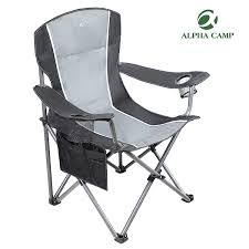 ALPHA CAMP Folding Camping Chair Heavy Duty Support 350 LBS Oversized Steel  Frame Collapsible Padded Arm Chair With Cup Holder Quad Lumbar Back Chair  ... Folding Chair Charcoal Seatcharcoal Back Gray Base 4box Gsa Skilcraf 6 Best Camping Chairs For Bad Reviewed In Detail Nov Kingcamp Heavy Duty Lumbar Support Oversized Quad Arm Padded Deluxe With Cooler Armrest Cup Holder Supports 350 Lbs 2019 Lweight And Portable Blood Draw Flip Marketlab Inc Adjustable Zanlure 600d Oxford Ultralight Outdoor Fishing Bbq Seat Hercules Series 650 Lb Capacity Premium Black Plastic Steel Bag Lawn Green Saa Artists Left Hand Table Note Uk Mainland Delivery Only The According To Consumers Bob Vila