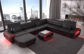 100 Sofa Modern Leather Brooklyn XL Shape