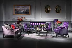 casa padrino luxus barock wohnzimmer set lila schwarz silber 2 sofas 2 sessel 1 couchtisch 2 beistelltische barockmöbel