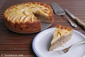 apfel nuss kuchen mit haselnuss walnuss äpfeln und