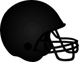 Black Football Helmet Free Clip Art