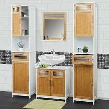 weiß badezimmer badschrank badset bambus badmöbel hwc a85
