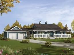 One Level House Floor Plans Colors Plan 88447sh Wrap Around Porch Rustic House Plans Porch And