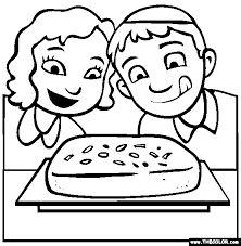 Rosh Hashanah Honey Cake Coloring Page