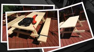diy build your own picnic table kit form part 2 youtube