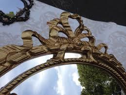 objekte nach 1945 repro wandspiegel rund gold barock