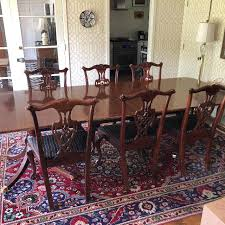 Baker Furniture Historic Charleston Double Pedestal Mahogany Dining Table Chairs Listed Separately