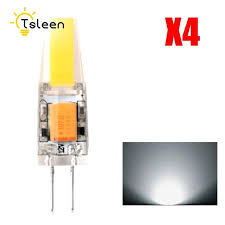 4pcs new g4 cob led bulb ac dc 12v 6w ac220v 3w led g4 l