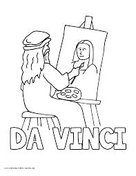 World History Coloring Pages Printables Leonardo DaVinci Mona Lisa