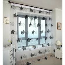 Black Sheer Curtains Walmart by Sheer Black Curtains Club Linen Jet Black Sheer Curtains X 2 X