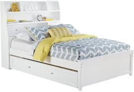 Ivy League White 4 Pc Full Bookcase Bed w Trundle Trundle Beds