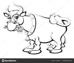 Coloriage Vache Drôle Vecteurs Libres De Droits Et Plus Dimages
