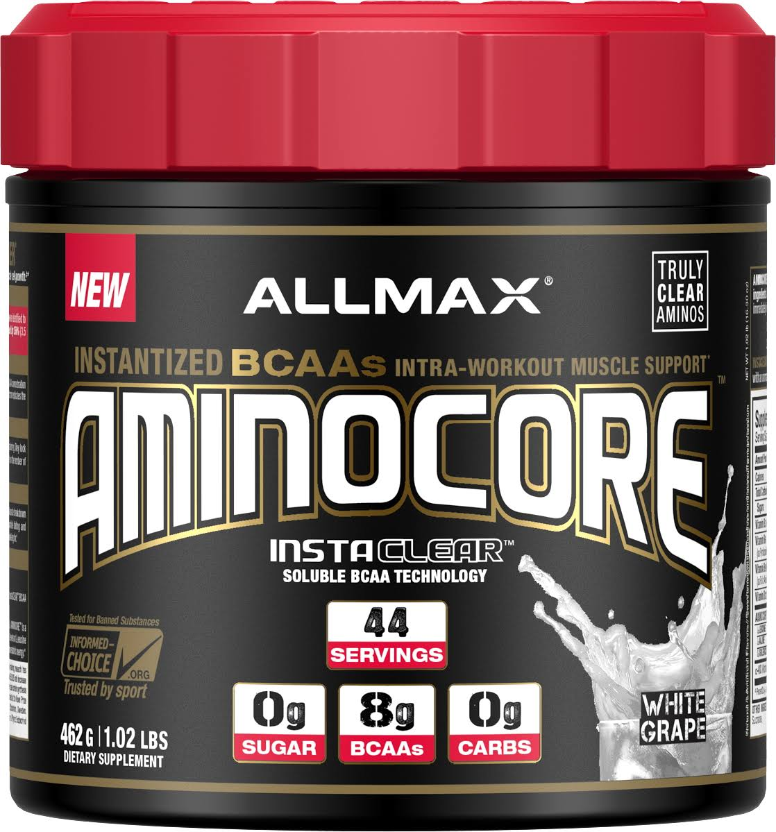 AllMax Nutrition Aminocore Supplement - White Grape, 44 Servings