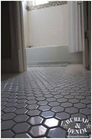 vintage styled white hex tile floor remodel bathkitchen ideas