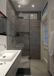 view kleine badezimmer problemlösungen dusche am