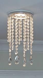 Split Design Ceiling Medallion by Magnetic Potlight Recessed Light Chandelier In Clear Crystal