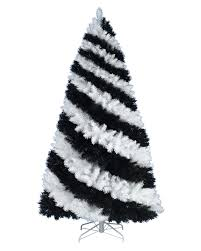 Black Slim Christmas Tree Pre Lit by Zebra Striped Christmas Tree Treetopia