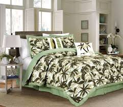 Chezmoi Collection 6pc Tropical Palm Tree Camouflage forter Set