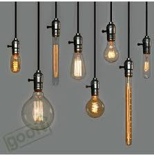 retro incandescent vintage light bulb st64 diy handmade edison