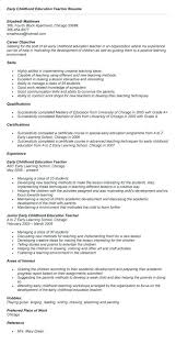 Early Childhood Assistant Resume Sample Francistan Template Download Education Samples