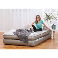 aerobed 18 queen perfect pressure air mattress with headboard