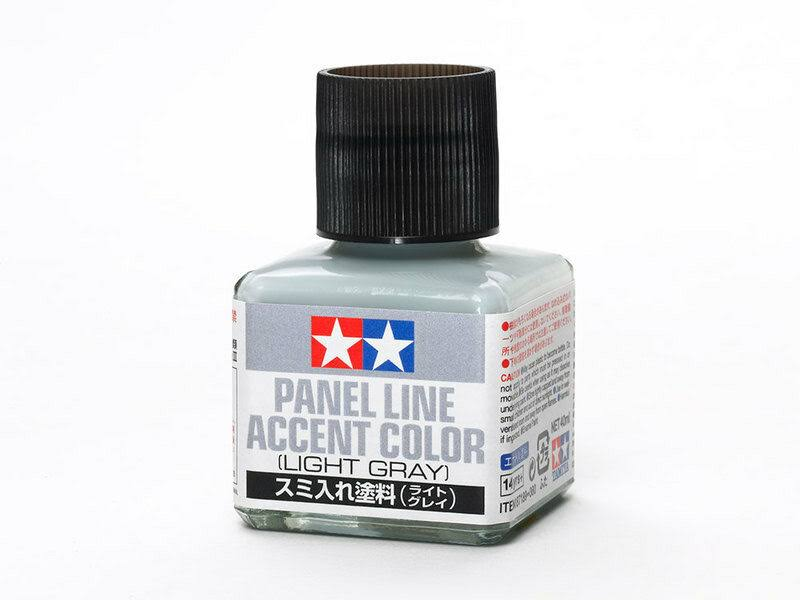 Tamiya Enamel Panel Line Accent Color - Light Gray, 40ml