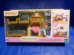 sylvanian families 5037 luxus wohnzimmer kamin deluxe living