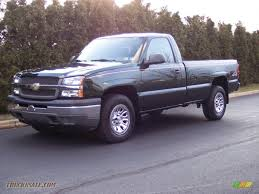 100 Single Cab Chevy Trucks For Sale 2005 Chevrolet Silverado 1500 Regular 4x4 In Dark Green