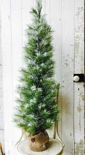 Artificial 4ft Long Needle Snow Pine Tree