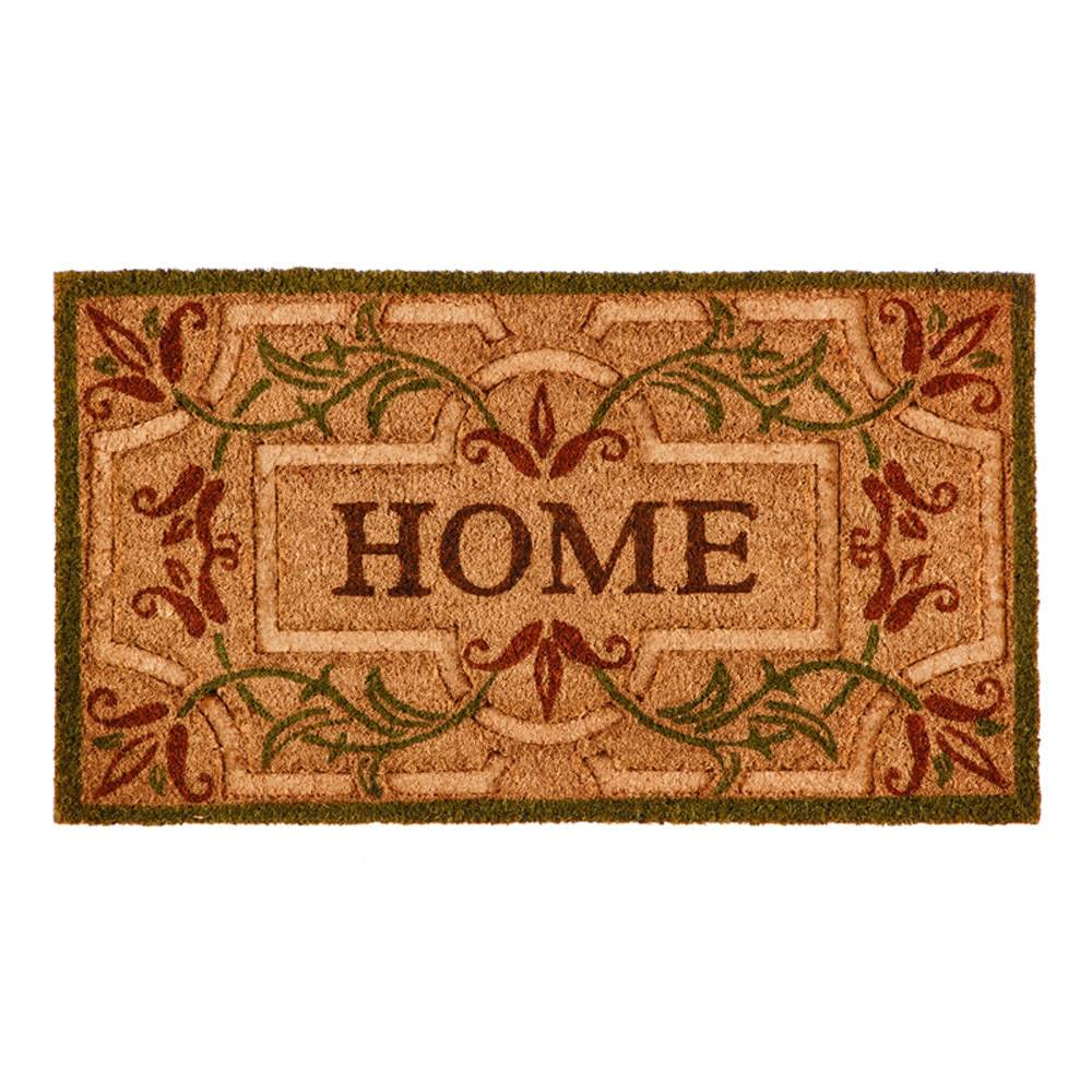 Evergreen Spring Home Coir Mat